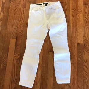 White Denim Skinny Jeans Ankle Length